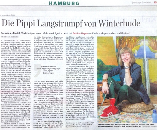 Bettina - Hamburger Abendblatt am 29. August 2014 Kopie