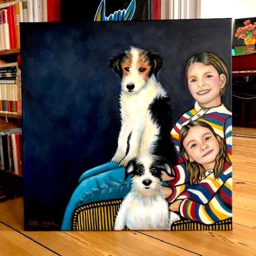 Kinder und Hunde